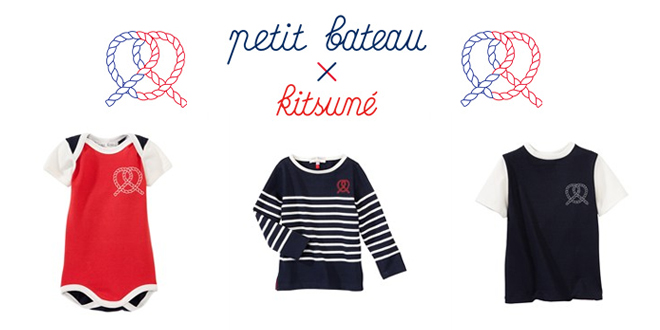 petit bateau x kitsune collection capsule. Black Bedroom Furniture Sets. Home Design Ideas