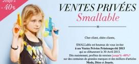 SMALLable - Ventes privées