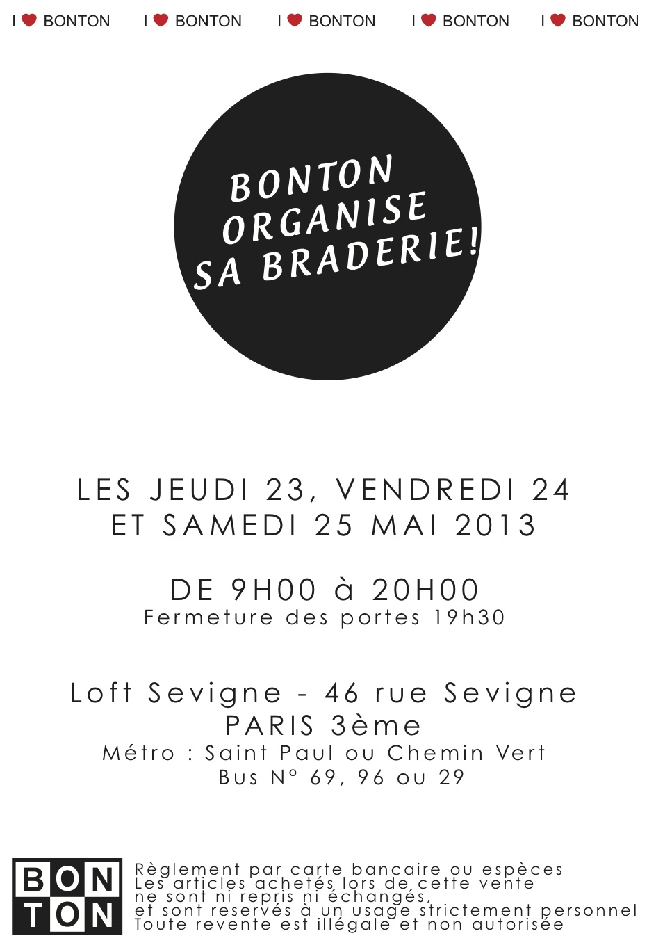 Braderie Bonton Paris
