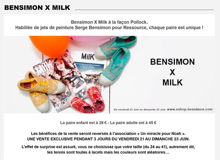 Milk x Bensimon