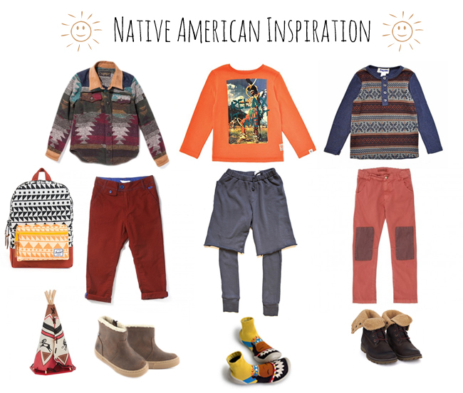 mode enfant native americaine