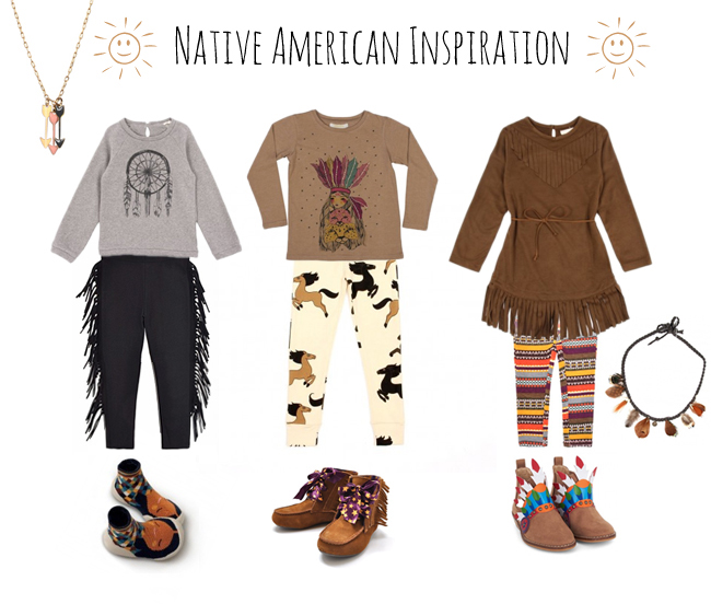 Native american mode enfant