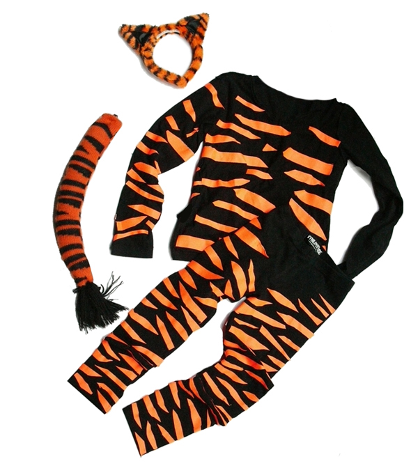 DIY Tiger kids costume