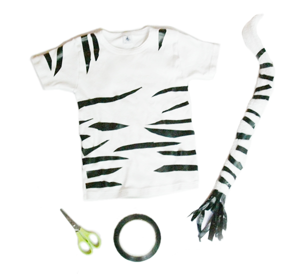 DIY zebra kids costume