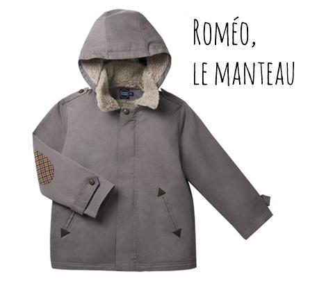 Frangin Frangine manteau enfant
