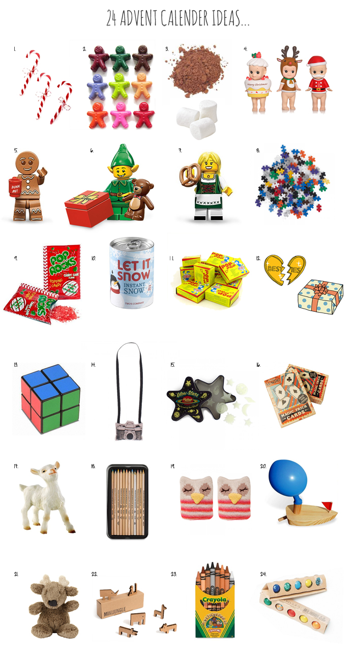 Advent Calendar Ideas For Girls : Advent calendar gifts surprises