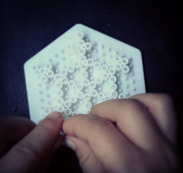 Hama Bead Snowflakes