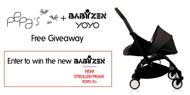 Pepa's x BABYZEN™ YOYO 0+ Stroller Pram Free Giveaway