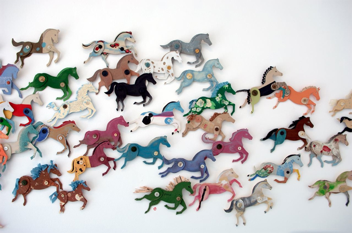 Ann Wood's DIY  cardboard horses