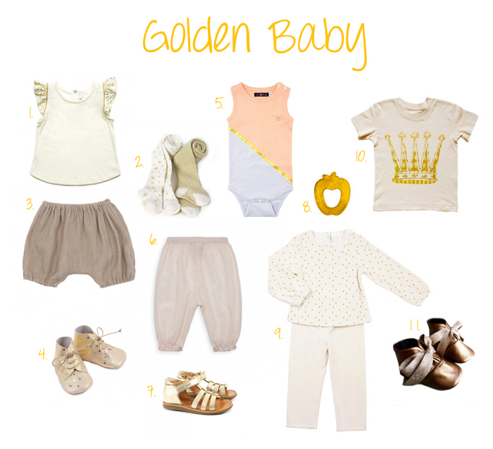 Gold fashion for baby