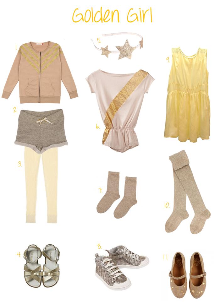 Girls gold fashion