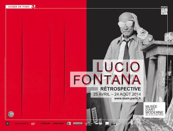 Exposition Lucio Fontana au Musée d'Art Moderne de la Ville de Paris
