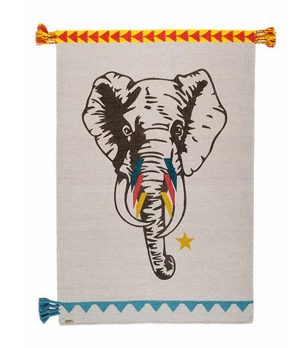 Varnassi elephant rug