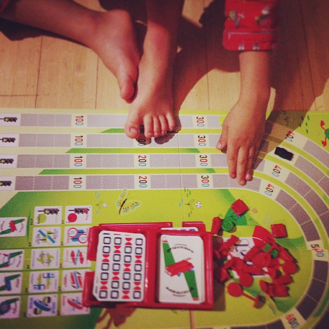 Rainy day games... #boardgames #1000bornes #kids #indoorgames #weekend
