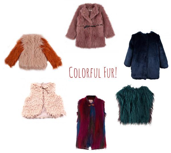 colorful-kids-fake-fur-coats