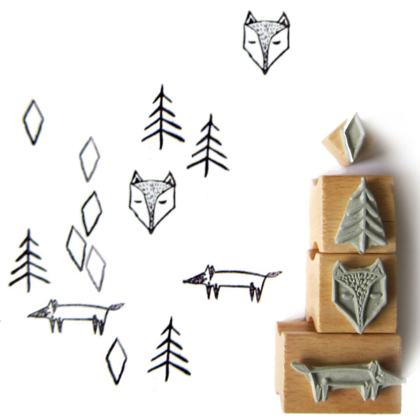 nuuk-fox-forest-stamps