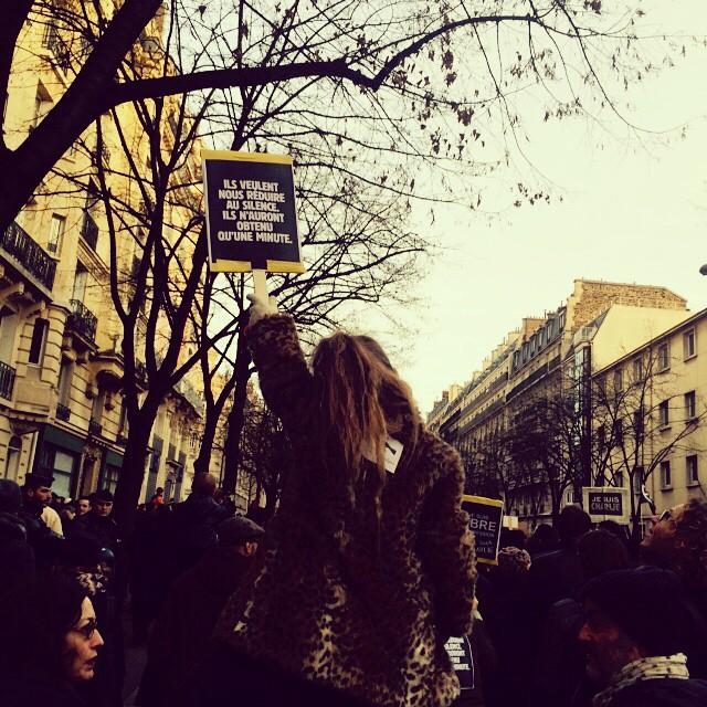 #JeSuisCharlie #noussommescharlie Bon dimanche à tous ! #frompariswithlove