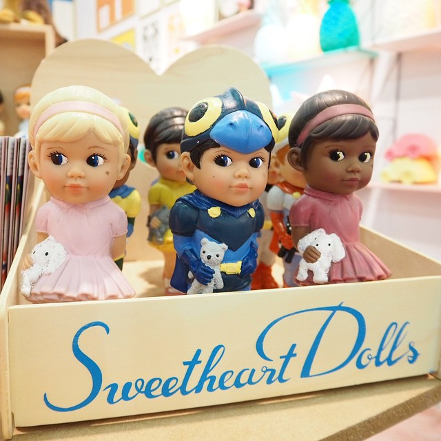 These adorable sweetheart dolls are just waiting to be adopted... The newly launched Sweetheart Kids are the perfect little toy for boys and girls! #sweetheartsdolls #maisonobjet #Maisonetobjet #MO15 #monballonrouge #design #kids #love #kidsdeco #kidstoys #love