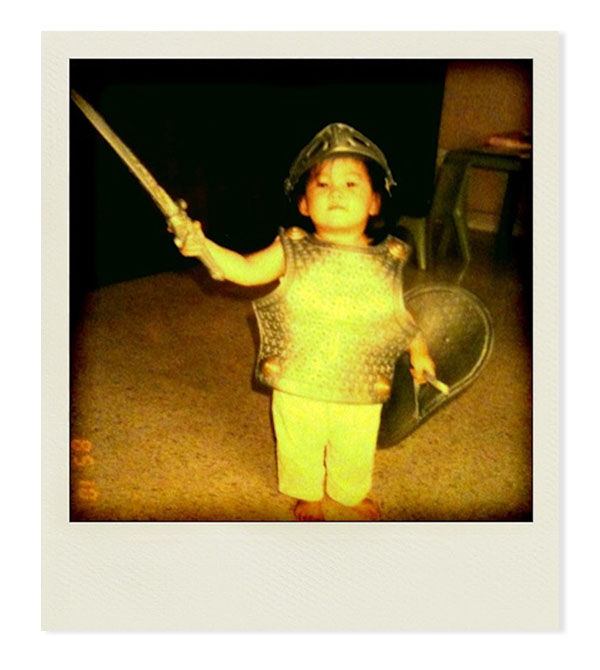 Cavalier Angela as a child