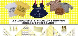 Free Giveaway Petit et Unique – un bon d'achat de 100€ à gagner !