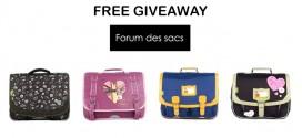 Free Giveaway Forum des sacs : un cartable à gagner !