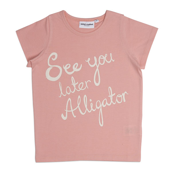 Mini Rodini Tee-shirt ALLIGATOR rose