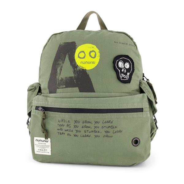 NUNUNU Olive Military Backpack