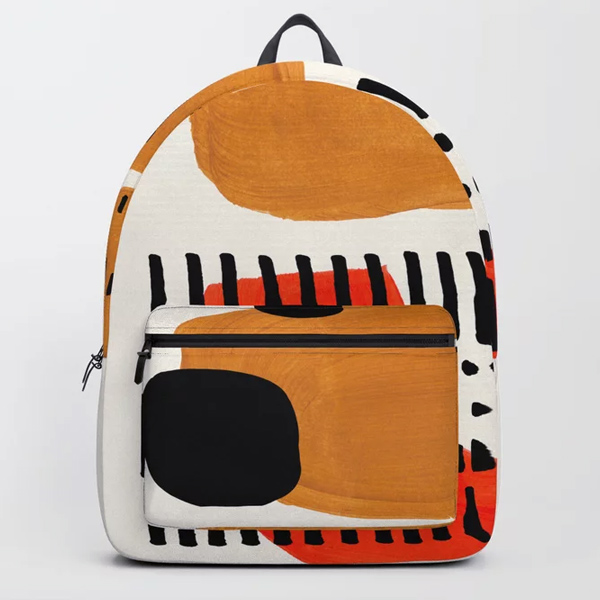 modern abstract backpack