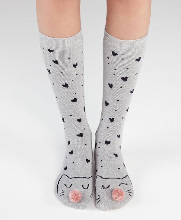 oysho-cat-socks