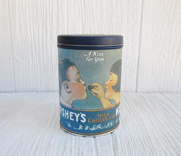 Hersheys Kisses Vintage Tin