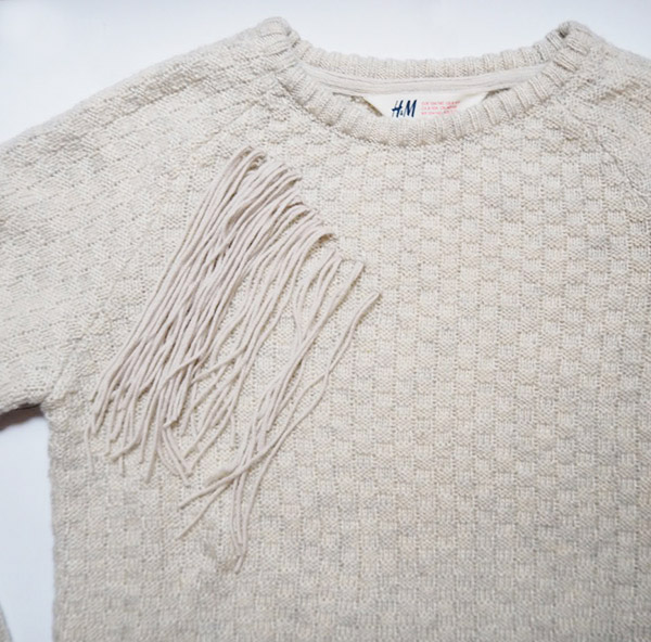 DIY Crochet Fringe Sweater