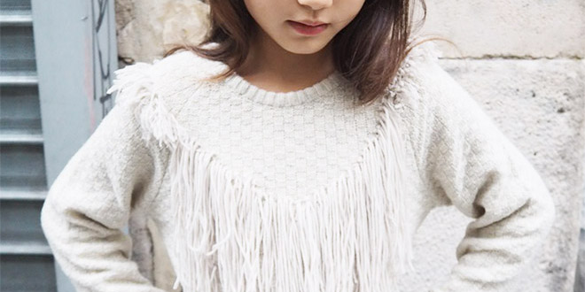 DIY Fringe Sweater for Girls