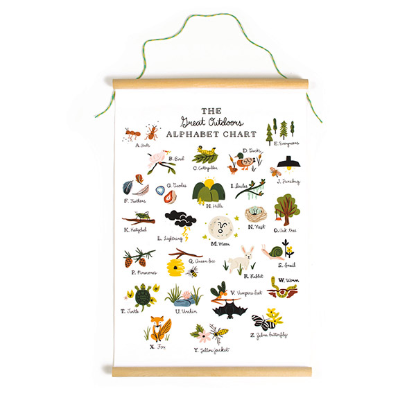 Great Outdoors Alphabet Poster