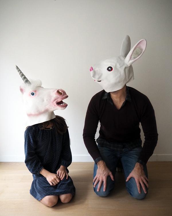 Deguisement licorne et lapin