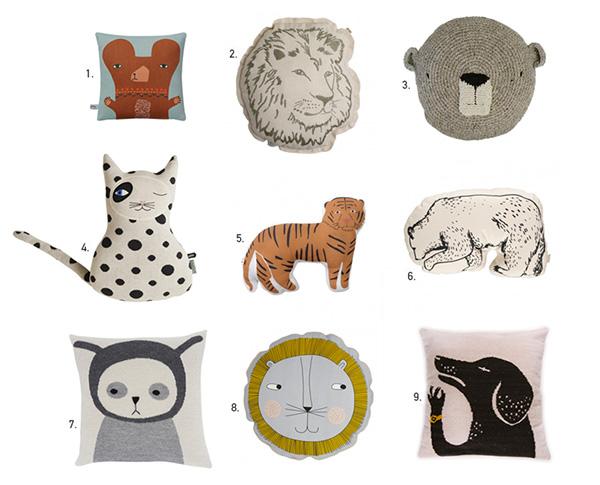 Kids Animal Pillows