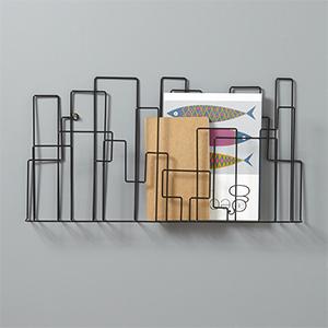 Porte-revues métal