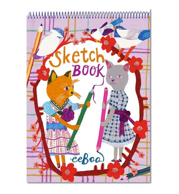 Retro Cats Sketchbook by Eeboo