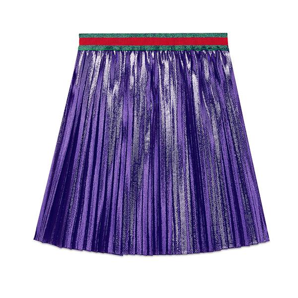 Gucci Pleated Purple Skirt