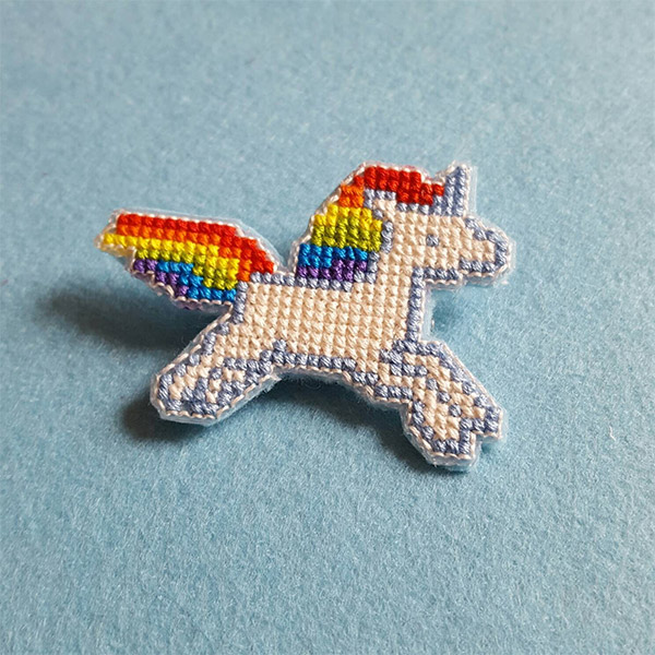 Embroidered Unicorn Pin