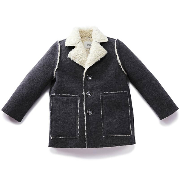 Once Reversible Wool Coat