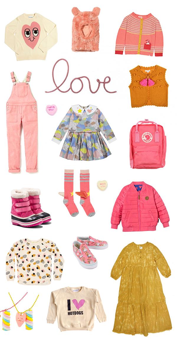 Pink girls fashion