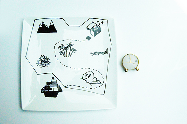DIY assiette pirate