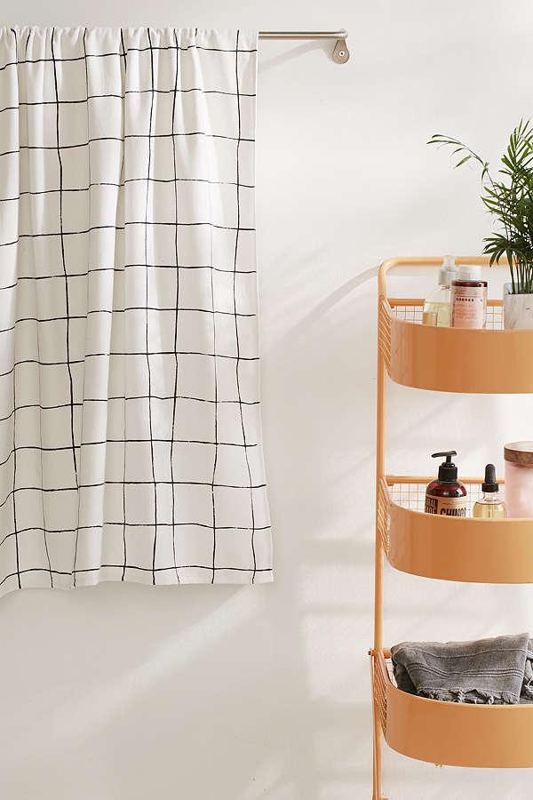 Wonky Grid Bath Towel