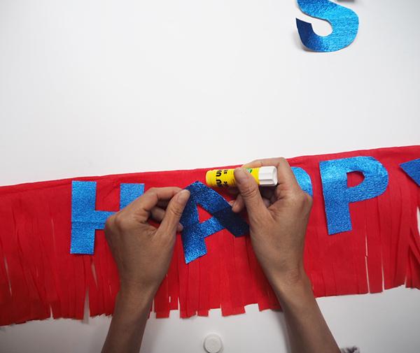 DIY Fringe Banner