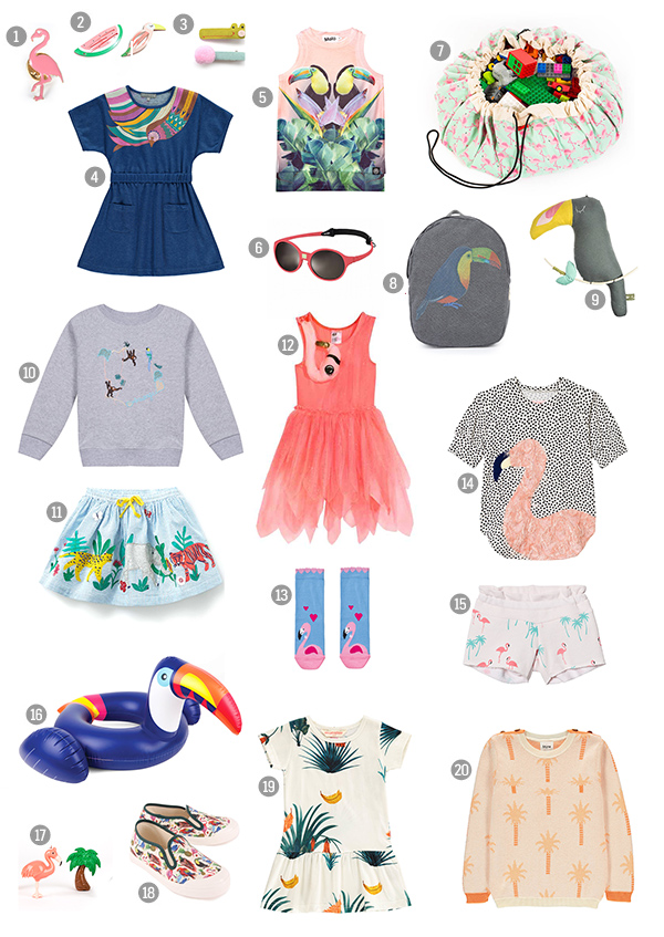 Tropical Summer Fashion For Babies Kids