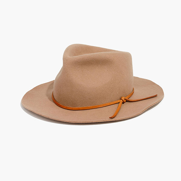 madewell x biltmore fedora hat