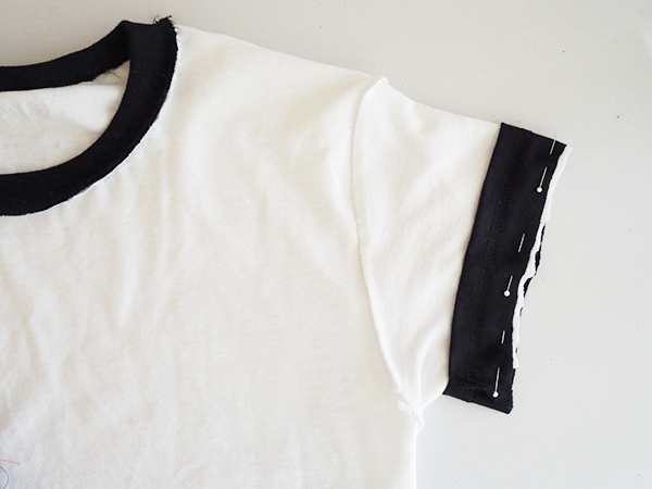 DIY Ringer t-shirt