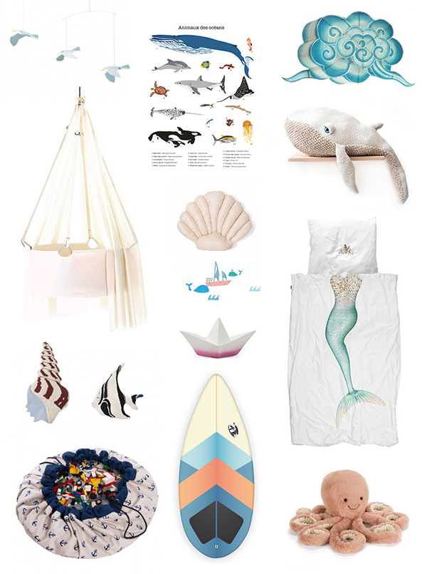 Kids Bedroom Decor - Ocean theme