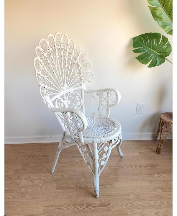 Rotin peacock chair