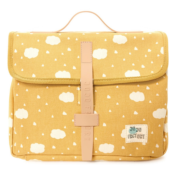JOJO FACTORY Petit Cartable Nuages Jaune
